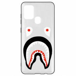 Чехол для Samsung A21s Bape shark logo
