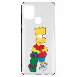 Чохол для Samsung A21s Bart Simpson