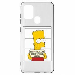 Чехол для Samsung A21s Барт в тюряге