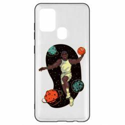 Чехол для Samsung A21s Basketball player and space