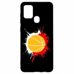 Чехол для Samsung A21s Баскетбольный мяч