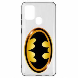 Чохол для Samsung A21s Batman logo Gold