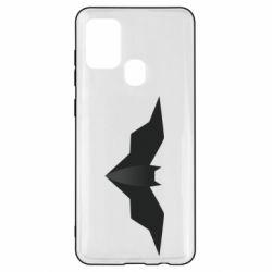 Чехол для Samsung A21s Batman unusual logo