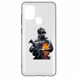 Чехол для Samsung A21s Battlefield Warrior