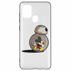 Чохол для Samsung A21s BB-8 and Mickey Mouse