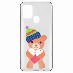 Чехол для Samsung A21s Bear and gingerbread