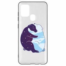 Чохол для Samsung A21s Bear day and night