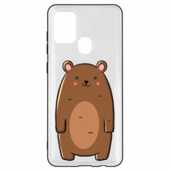 Чехол для Samsung A21s Bear with a smile