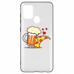 Чохол для Samsung A21s Beer and Pizza were kissed