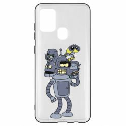 Чехол для Samsung A21s Bender and the heads of robots