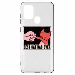 Чехол для Samsung A21s Best cat dad ever