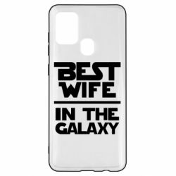 Чохол для Samsung A21s Best wife in the Galaxy