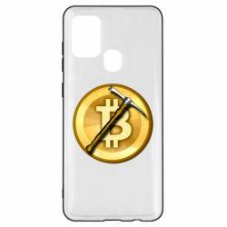 Чохол для Samsung A21s Bitcoin Hammer