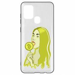 Чехол для Samsung A21s Bitcoin Lollipop
