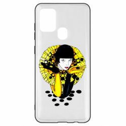 Чехол для Samsung A21s Black and yellow clown
