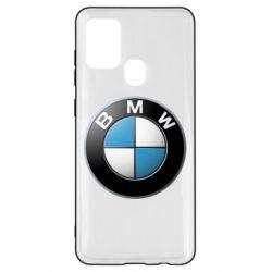 Чехол для Samsung A21s BMW Logo 3D