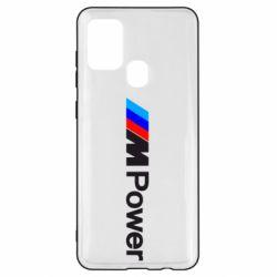 Чехол для Samsung A21s BMW M Power logo