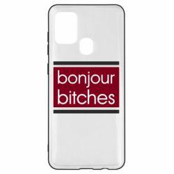 Чехол для Samsung A21s Bonjour bitches