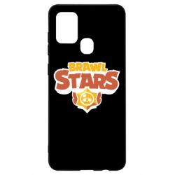 Чехол для Samsung A21s Brawl Stars logo orang and yellow