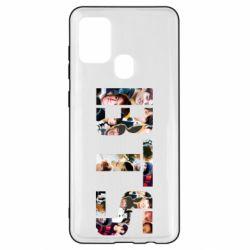Чехол для Samsung A21s BTS collage
