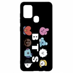 Чохол для Samsung A21s Bts emoji