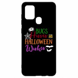Чохол для Samsung A21s Bugs Hisses and Halloween Wishes