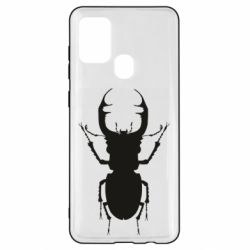 Чехол для Samsung A21s Bugs silhouette