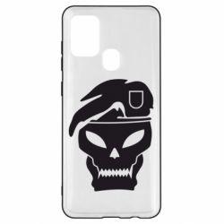 Чехол для Samsung A21s Call of Duty Black Ops logo