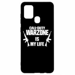 Чехол для Samsung A21s Call of duty warzone is my life M4A1