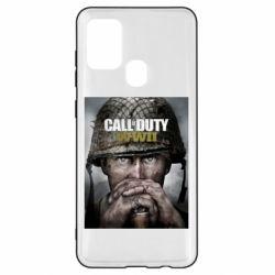 Чохол для Samsung A21s Call of Duty WW2 poster