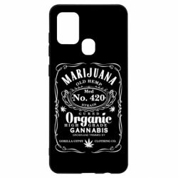 Чохол для Samsung A21s Cannabis label