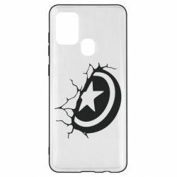 Чохол для Samsung A21s Captain America shield