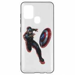 Чехол для Samsung A21s Captain america with red shadow