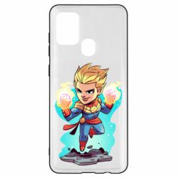 Чехол для Samsung A21s Captain marvel hovers in the air