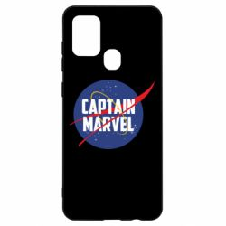 Чохол для Samsung A21s Captain Marvel in NASA style