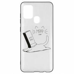 Чехол для Samsung A21s Cat and a box of milk