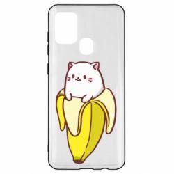 Чехол для Samsung A21s Cat and Banana