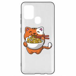 Чохол для Samsung A21s Cat and Ramen