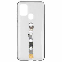Чехол для Samsung A21s Cat breeds