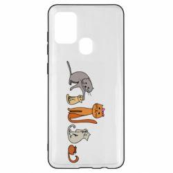 Чехол для Samsung A21s Cat family