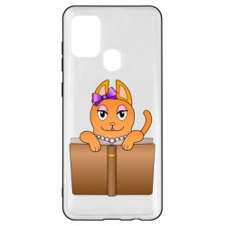 Чехол для Samsung A21s Cat girl and book