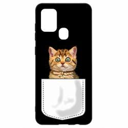 Чехол для Samsung A21s Cat in your pocket