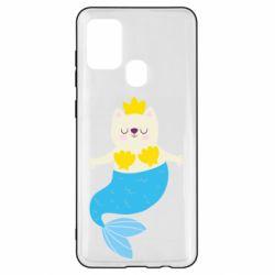 Чохол для Samsung A21s Cat-mermaid