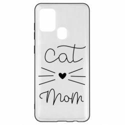 Чохол для Samsung A21s Cat mom