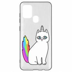 Чехол для Samsung A21s Cat Unicorn