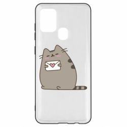 Чохол для Samsung A21s Cat with a letter