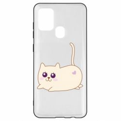 Чехол для Samsung A21s Cat with a smile