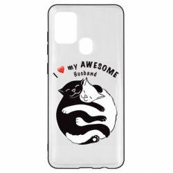 Чехол для Samsung A21s Cats and love