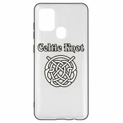 Чохол для Samsung A21s Celtic knot black and white