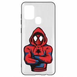 Чохол для Samsung A21s Людина павук в толстовці